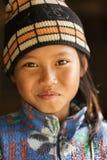 缅甸小女孩画象 库存图片