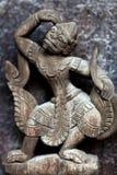 缅甸木雕刻 库存照片