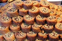 缅甸果仁蜜酥饼 库存图片
