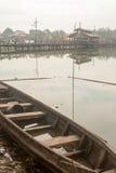 缅甸河场面 库存照片