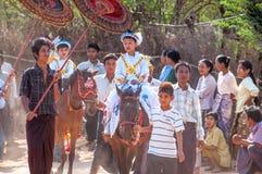 缅甸生活 免版税库存照片