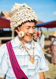 缅甸的人民的贸易是主要收入来源 库存图片