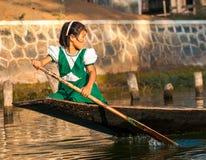 缅甸的人民的贸易 免版税库存照片