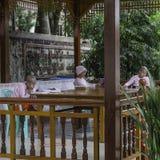 缅甸的佛教尼姑 免版税图库摄影