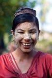 缅甸的女孩 库存照片
