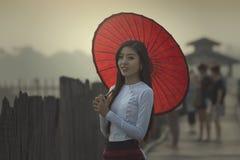 缅甸的妇女 库存照片