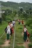 缅甸的学生 库存图片