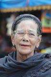 缅甸的寡妇 免版税库存图片
