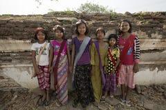 缅甸的微笑 库存照片
