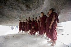 缅甸的新手修士 库存图片