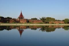 缅甸的曼德勒宫殿 库存照片