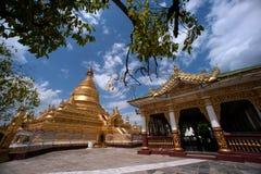 缅甸的玛哈Lokamarazein Kuthodaw塔 免版税库存图片