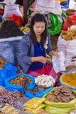 缅甸的菜卖主 免版税库存图片