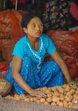 缅甸的菜卖主 免版税图库摄影