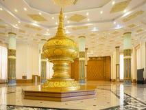 缅甸的议会的门厅 免版税库存照片