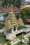 缅甸的dharmikarama海岛槟榔岛寺庙 免版税库存照片