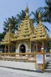缅甸的dharmikarama马来西亚寺庙 免版税库存照片