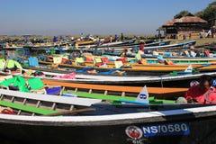 缅甸的Inle湖 免版税库存照片