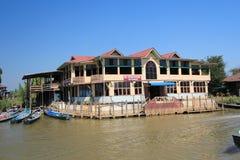 缅甸的Inle湖 库存图片