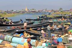缅甸的Inle湖 图库摄影