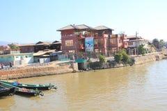 缅甸的Inle湖 免版税库存图片