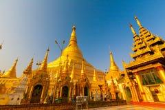 缅甸 Shwedagon天 库存照片