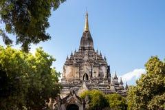 缅甸bagan tamples轻的birma 库存照片