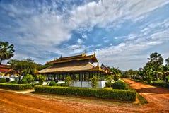 缅甸hdr宫殿泰国样式的寺庙 免版税库存照片