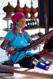 缅甸padaung妇女 图库摄影