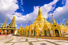 缅甸Shwedagon塔  库存照片