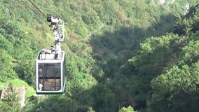 缆索铁路在森林 影视素材