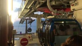 缆索铁路的建筑巴统市乔治亚 影视素材