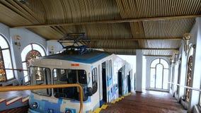 缆索铁路的驻地的内部在基辅 免版税库存照片