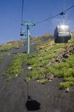 缆车向Etna 库存图片