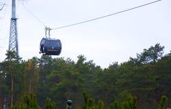 缆车在城市Druskinenkay,立陶宛 免版税图库摄影