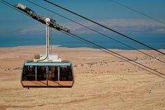 缆车在堡垒马萨达 免版税图库摄影