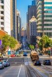 缆车在旧金山,美国 图库摄影