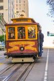 缆车在旧金山,美国 免版税库存照片