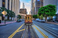 缆车在旧金山,美国 库存照片
