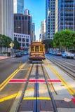 缆车在旧金山,美国 免版税库存图片