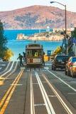 缆车在旧金山,美国 免版税图库摄影