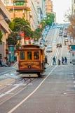 缆车在旧金山,美国 库存图片
