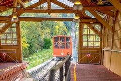 缆车在海得尔堡 免版税库存照片