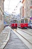 缆车在维也纳 免版税图库摄影