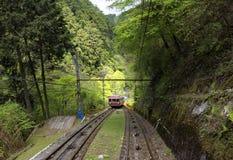 缆车在Koyasan在日本 库存照片