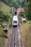 缆车小山马来西亚槟榔岛 免版税库存照片