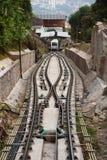 缆车小山马来西亚槟榔岛 免版税库存图片