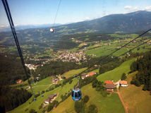 从缆车的瑞士阿尔卑斯 免版税图库摄影