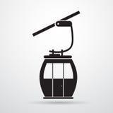 缆车运输绳索方式剪影黑色象 皇族释放例证
