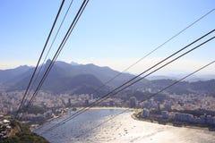 缆车绳索在老虎山驻地的 免版税库存照片
